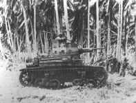 M2 tank on Guadalcanal