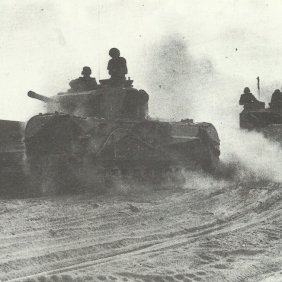 Churchill tanks at Second Alamein