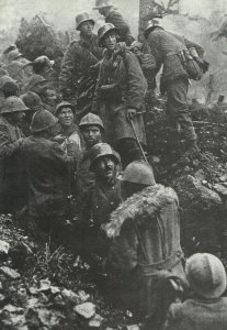 Italian trench unit is captured by Austrians.