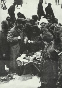 exchange trade between the trenches