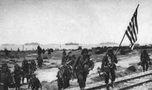 US infantry is landing at Oran.