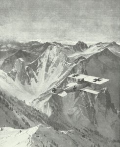 Albatross fighter in the Alps