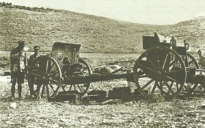 abandoned Turkish field gun in Palestine