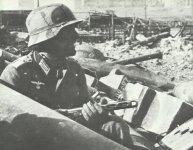 German assault troop leader in Stalingrad