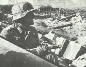 German assault troop leader in Stalingrad