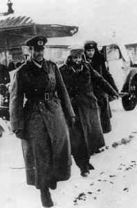 Paulus and his staff surrenders at Stalingrad.