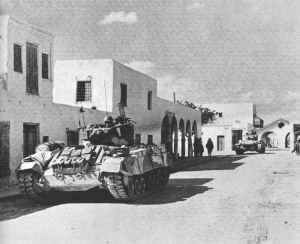 Valentine tanks of the 8th Army at Ben Gardane,