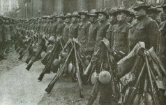 US troops with Springfield rifles
