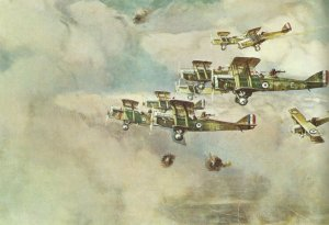 Flight of DH4s