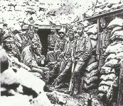 position in the Alps 1918.