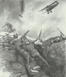 Austrian-Hungarian troops fought strafing British planes