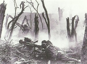 US soldiers in battle