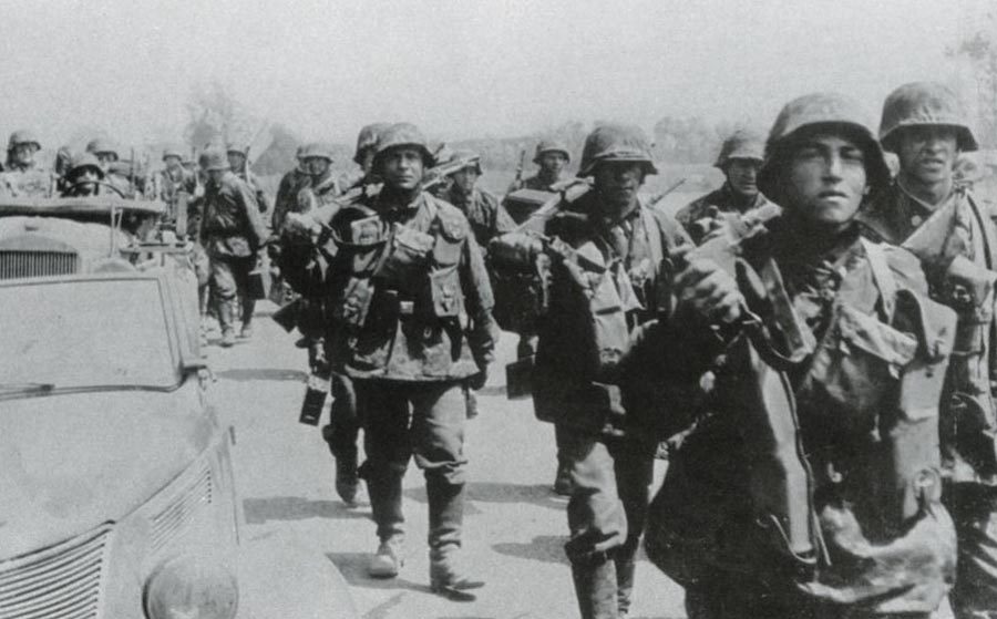 Totenkopf Division's advance into Russia
