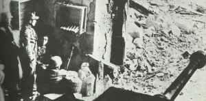 Command post of a German StuG assault gun unit