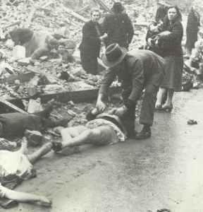 Civilian casualties of the 'Battle of Hamburg'.
