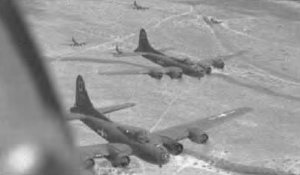 B-17F en route to a target in Italy