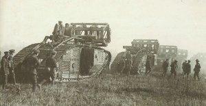 British Mark V tanks