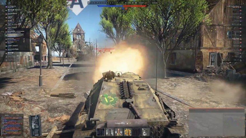 Hetzer in action in War Thunder