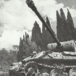 Panther tank in Italy