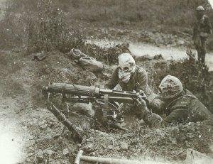 Vickers machine-gun in action