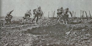 German infantry attack