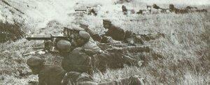 Bulgarian machinge-gunners in action