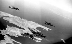 Ju 88 approaching the island of Kos