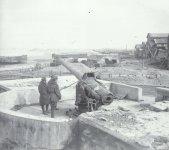 coastal battery position on the Belgian coast