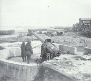 coastal battery position on the Belgian coast