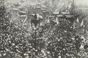 Armistice celebrations in Paris.
