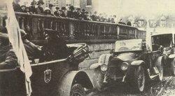 Arrival of the German armistice delegation