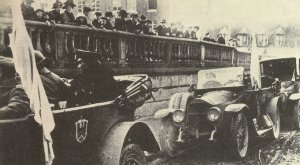 Arrival of the German armistice delegation