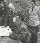 Field Marshal Kesselring at a meeting