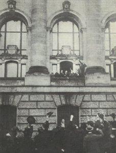 Scheidemann proclaims the German Republic