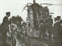 Handover of a German submarine.