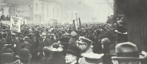 Demonstration of the majority socialists for the German government