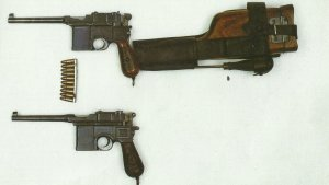 C/96 with the leather holster and accessory holder