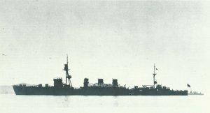 Japanese light cruiser 'Kuma'