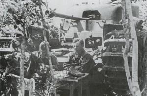 knocked-out Churchill tank Prokhorowka