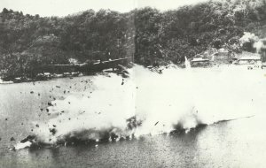 Shooting down of a DB-7 Havoc
