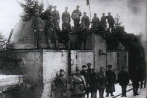 Red armoured train