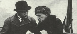 Mussolini with the nationalist poet Gabriele d'Annunzio