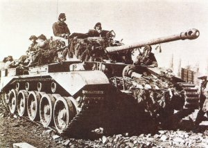 British Comet tank in the last days of the Second World War