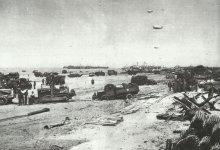 supplies Normandy beach