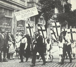 Protest march under the motto 'These German cities robbed Poland'