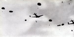 British paratroopers jumping