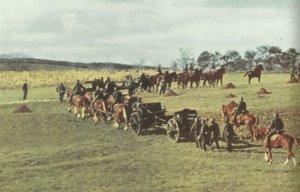 Horse-drawn artillery