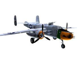 3D model B-25J Mitchell