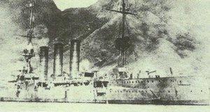 light cruiser 'Dresden' in Mas a Fuera in March 1915