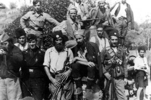 Chetnik guerrillas and Germans